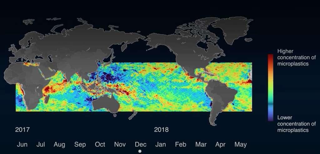 Les concentrations en microplastiques sont plus élevées en été, ici au mois de décembre dans l'hémisphère Sud. © Université du Michigan
