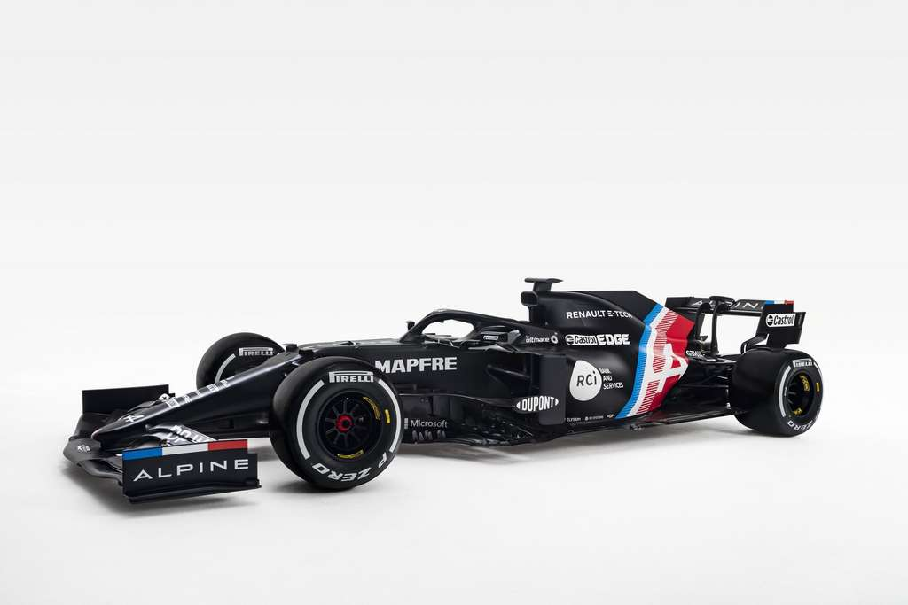 La nouvelle livrée de la F1 Renault qui passe sous les couleurs Alpine. © Renault