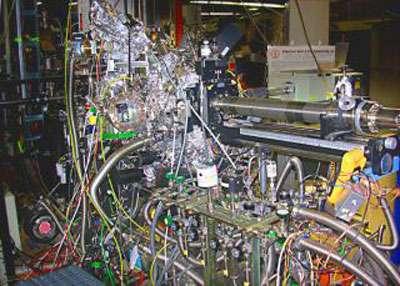 Cet impressionnant dispositif expérimental permet aux scientifiques d'étudier les processus chimiques à l'échelle atomique © SLAC (Stanford Linear Accelerator Center
