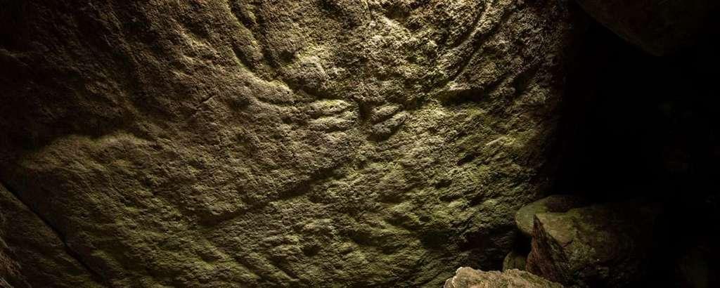 Gravure de cerf datant de 4.000 ou 5.000 ans. © Santiago Arribas Pena, HES