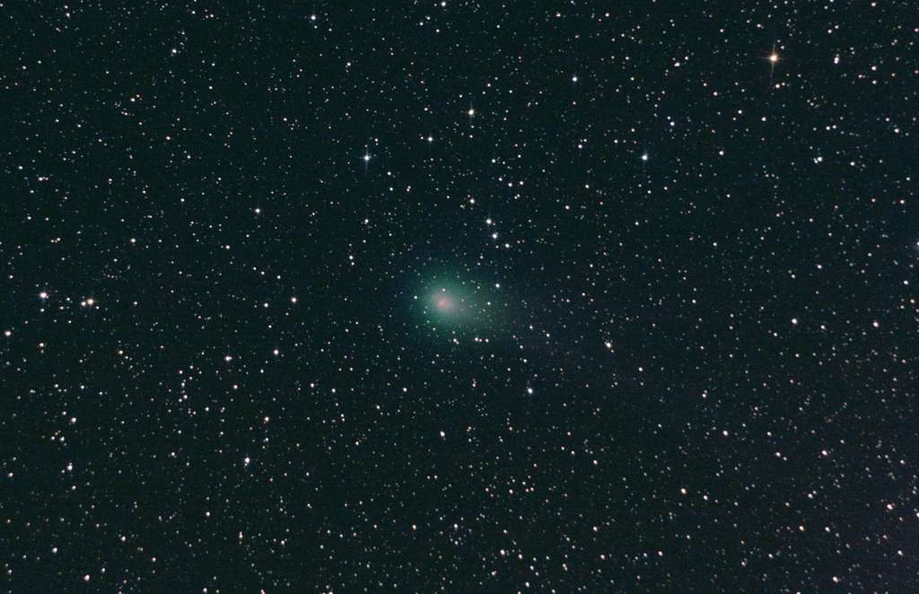 La comète Garradd le 22 septembre 2011. Dix-sept minutes de poses avec un télescope de 15 centimètres et un appareil photo numérique. © C. Yahia
