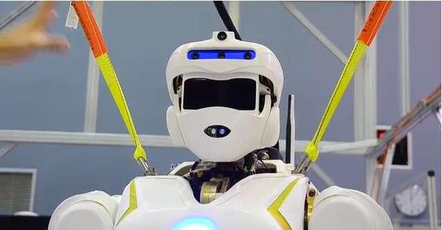 Valkyrie possède des caméras vidéo réparties sur l'ensemble de ses membres, et notamment sa tête, qui est également équipée d'un lidar. © IEEE Spectrum, YouTube