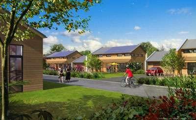 « Les jardins d'Hélios », à Laval (Mayenne), est un projet d'écoquartier de 200 logements destinés à la vente et à la location. © Effinergie