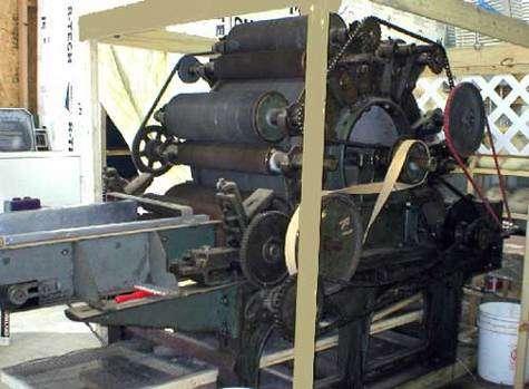 Machine à carder du XXe. © DR