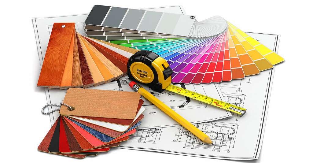 Pourquoi ne pas opter pour les pailles et textiles à coller comme revêtement mural ? © Maxx-Studio, Shutterstock