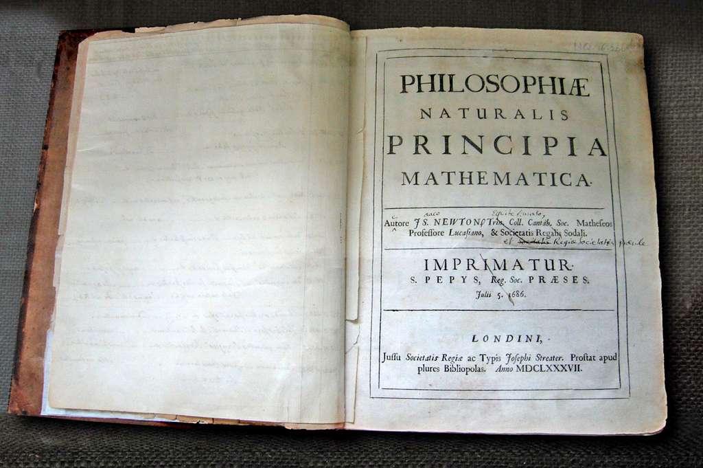 Ici, l'exemplaire de Newton avec ses notes en vue d'une seconde édition. © Andrew Dunn, Wikipedia, CC by-sa 2.0