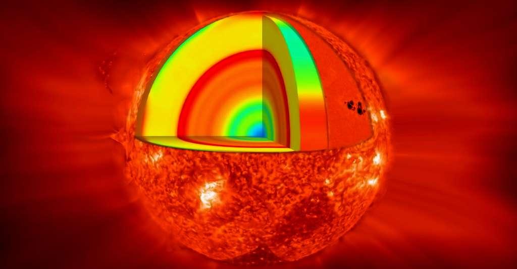 Cette représentation d'artiste montre une vue de la surface de la planète Proxima b en orbite autour de la naine rouge Proxima du Centaure, l'étoile la plus proche du Système Solaire. Le système d'étoiles double Alpha Centauri AB figure dans l'angle supérieur droit de l'image. Proxima b est dotée d'une masse légèrement supérieure à celle de la Terre et décrit une orbite autour de Proxima Centauri, au sein même de la zone d'habitabilité de cette étoile, de sorte que sa température de surface est compatible avec la présence d'eau liquide. © ESO/M. Kornmesser CC BY 4.0