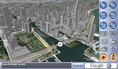 Le GPS du futur, vu par Google et Volkswagen.