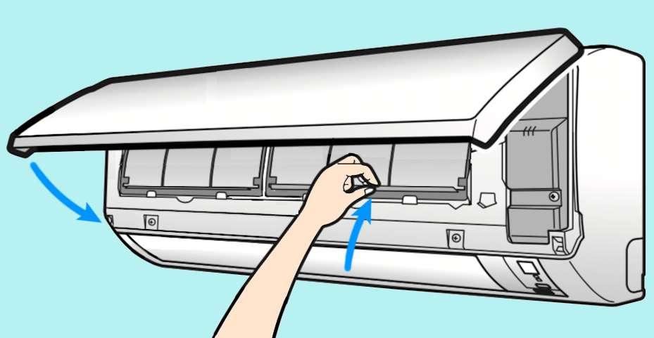 Fixez le filtre purificateur sur l'envers d'un nouveau filtre écran et replacez le tout dans le climatiseur. Vérifiez que le filtres sont bien en place avant de refermer doucement le capot de l'appareil. © M.B. d'après doc Daikin