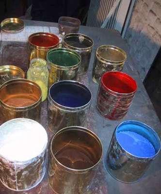 Pigments de pastel utilisés en peinture. © DR