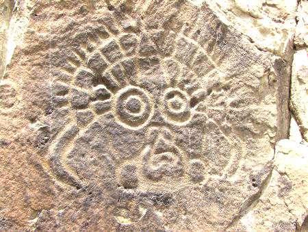 Un masque représenté en art rupestre. © DR