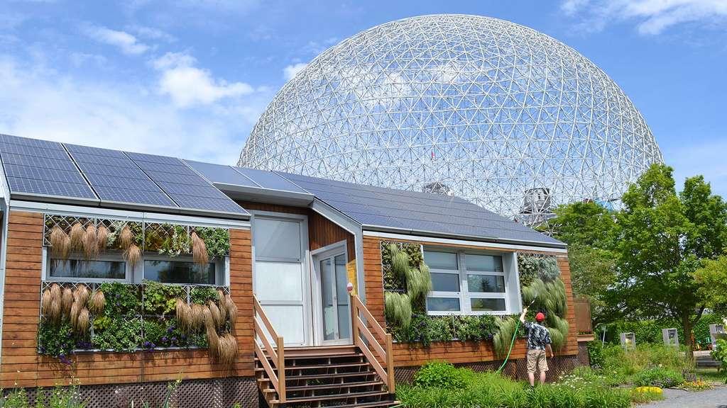 Maison solaire écologique sur l'île de Sainte-Hélène