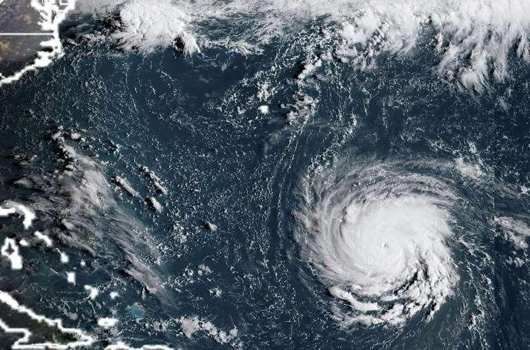 L'ouragan Florence vu par satellite le 10 septembre 2018. © Lizabeth Menzies, NOAA, RAMM, AFP