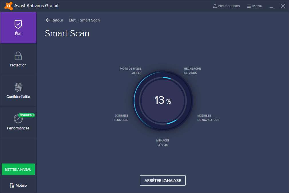 Lancez Smart Scan en un clic ! © Avast Software