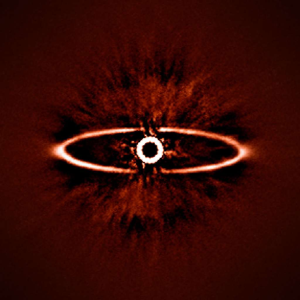 Un disque de poussière autour de l'étoile HR 4796A