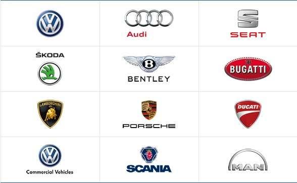 Le groupe Volkswagen réunit plusieurs grandes marques automobiles. Pour le moment, seules Audi et Volkswagen sont concernées par ce scandale. Aux États-Unis, la commercialisation des modèles à moteur diesel a été suspendue jusqu'à nouvel ordre. © Volkswagen AG