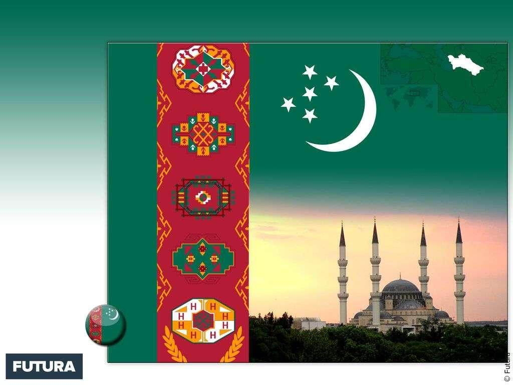 Drapeau : Turkménistan