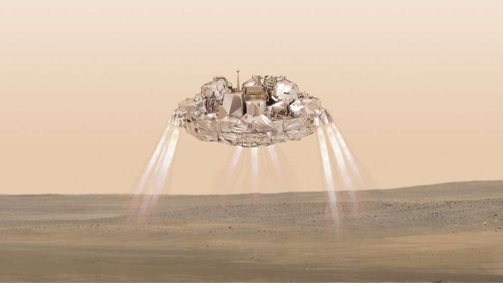 Bien qu'il ne soit pas posé comme il aurait dû, une grande partie des objectifs de démonstration ont été atteints. En tenant compte et en corrigeant ce qui n'a pas correctement fonctionné, le rover d'ExoMars 2020 a de bonnes chances d'atterrir. © ESA, ATG medialab