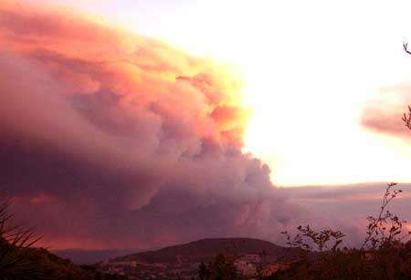 Incendies dans le Massif des Maures - Photo copyright Agnès Bugin