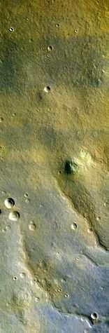 Première image en couleurs d'HiRISE (Crédits : NASA/JPL/University of Arizona)
