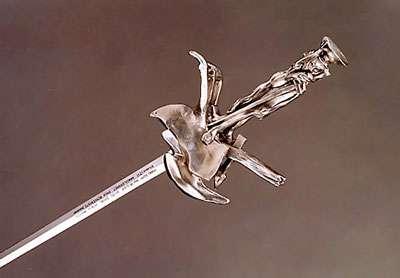 Épée d'Académicien de Georges Dumézil, Réalisation Arthus-Bertrand