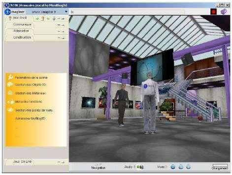 """Rencontrez vos visiteurs """"en chair et en os"""" dans votre blog 3D ! (Crédits : I-Maginer)"""