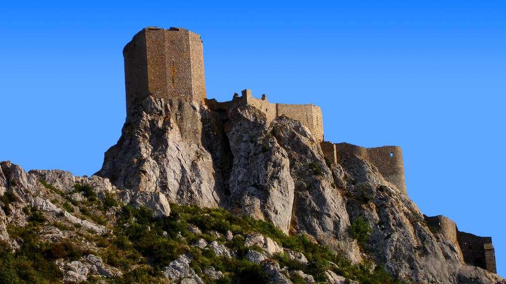 L'hérésie cathare ayant fait l'objet d'une croisade, ses derniers représentants trouveront refuge dans le château de Quéribus. © Pinpin, Wikipedia, CC by-sa 3.0
