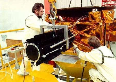 Le générateur radio-isotopique d'Ulysse. Crédit Nasa