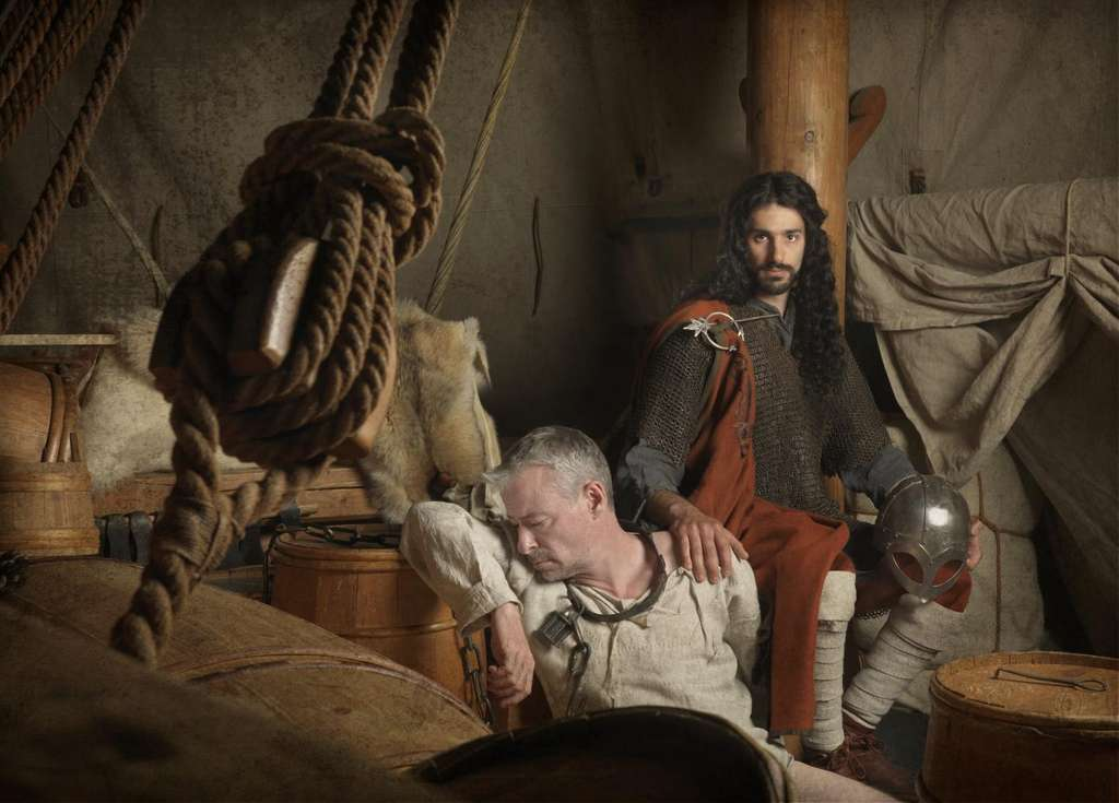 Une illustration de l'apparence probable de certains Vikings qui met en avant les flux génétiques étrangers observés. © Jim Lyngvild
