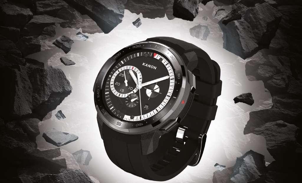 Avec ses matériaux robustes, la Watch GS Pro est l'exemple d'une montre connectée très polyvalente qui est aussi douée pour ses capacités en tant que smartwatch que pour la pratique sportive. Son autonomie est redoutable. © Honor