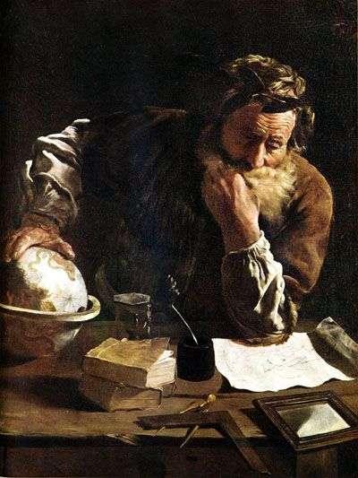 Archimède, par Domenico Fetti, 1620, Musée Alte Meister, Dresde (Allemagne).