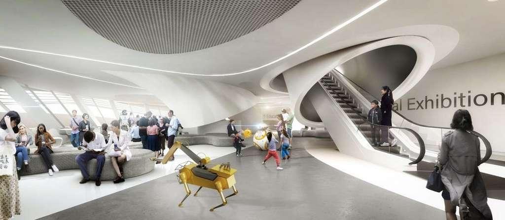 Un rendu de l'intérieur du futur musée de la robotique de Séoul. © Ediz Akyalçın, Melike Altinisik Architects