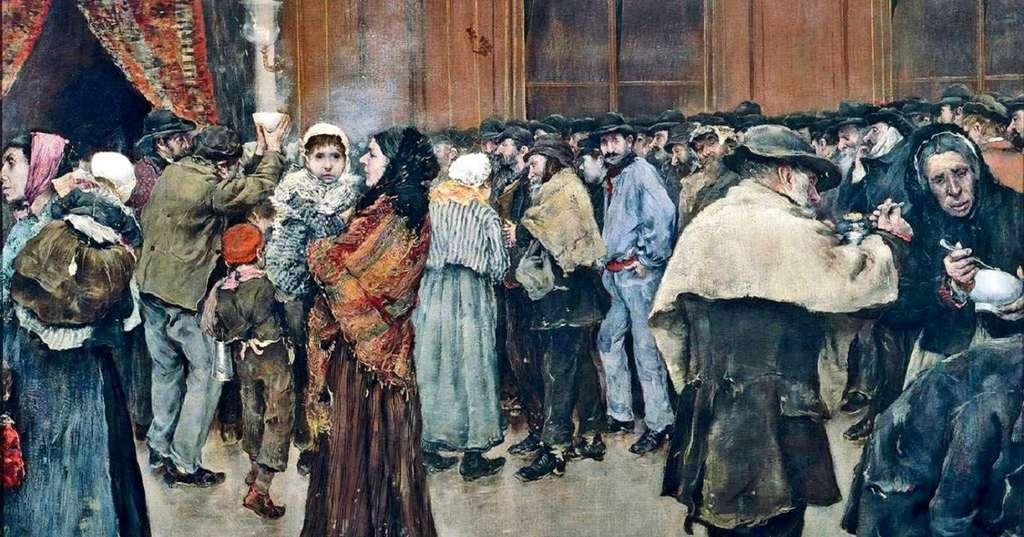 """""""La soupe du matin"""" par Norbert Goeneutte en 1880 ; Sénat, Paris. © RMN - Grand Palais / C. Jean."""
