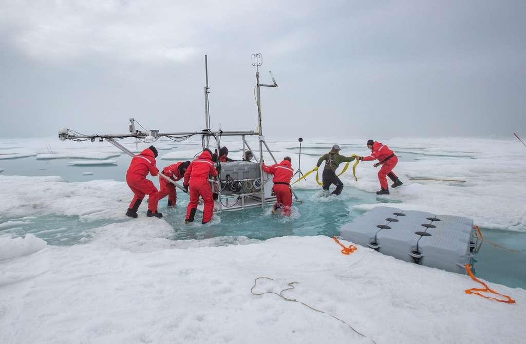 L'expédition Mosaic est la plus ambitieuse jamais menée au Pôle Nord. © Lianna Nixon, CIRES, Université Boulder