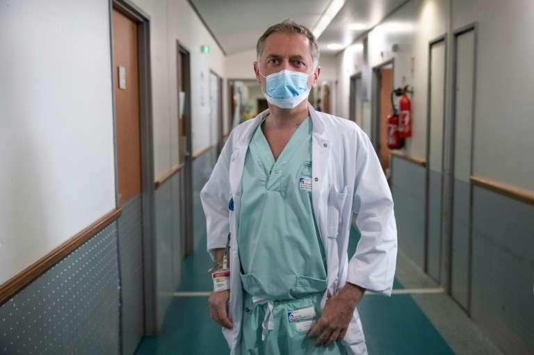 Philippe Juvin, à l'hôpital Georges Pompidou, le 25 mars 2020. © Thomas Samson, AFP, Archives