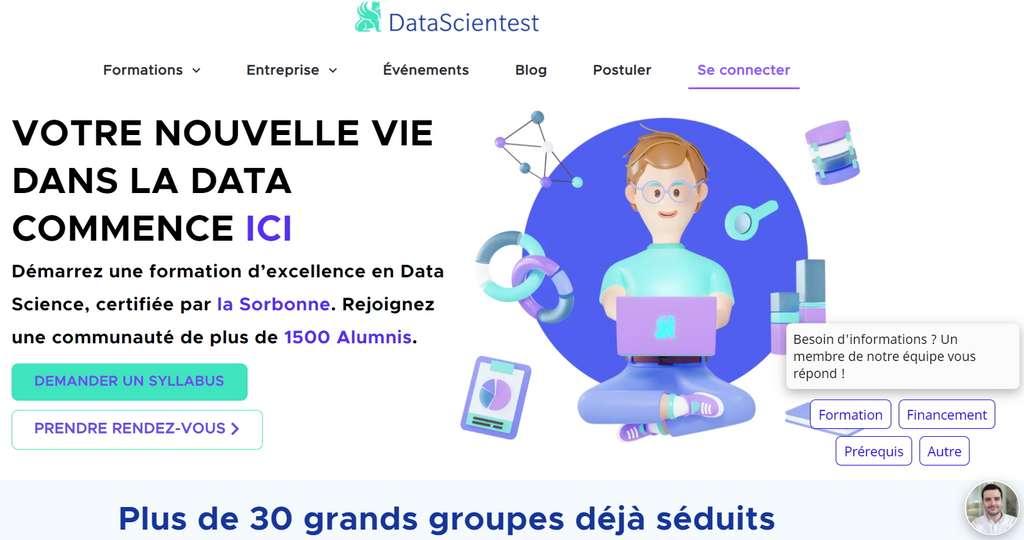 La Dataviz est la partie la plus importante du travail du data analyst. Un métier d'avenir pour lequel il est possible de se former, via des centres spécialisés, comme celui de DataScientest dont toutes les formations sont certifiées par la Sorbonne. © Futura