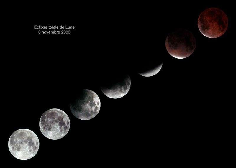 Eclipse Totale de Lune - 08 Novembre 2003