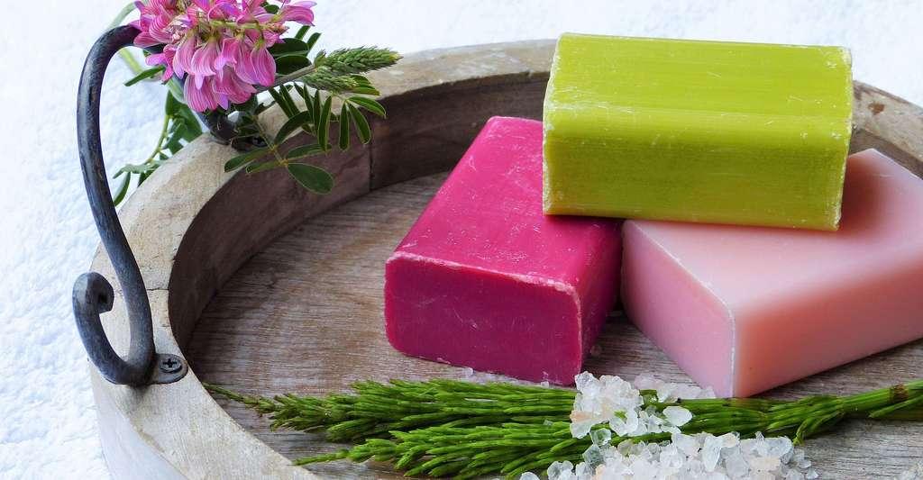 Savons à la rose, framboise, olive.... © Silviarita, Pixabay, DP