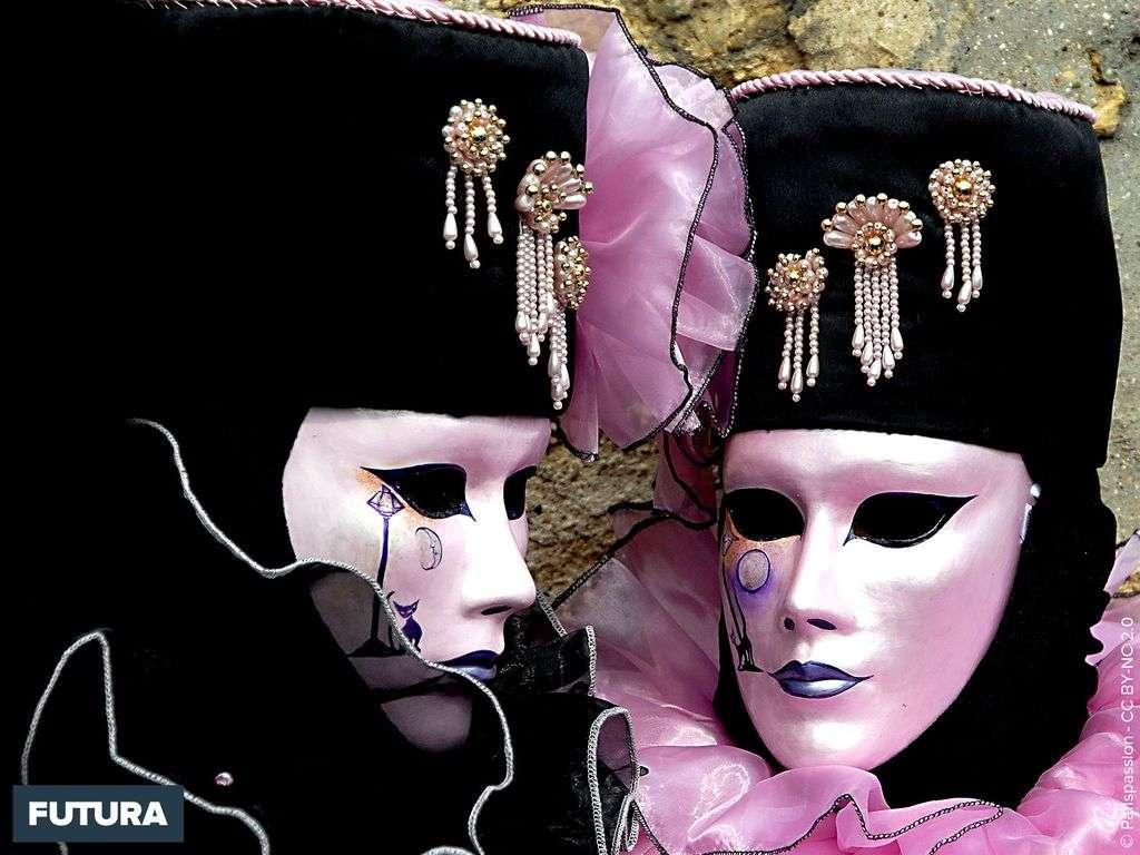 Carnaval de Venise féerie rose et noire