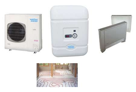 Exemples d'équipements basse température (données pour circuit hydraulique à 35 °C). © DR