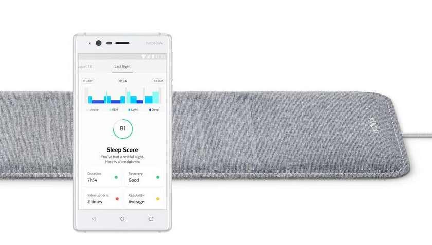 Sleep de Nokia analyse votre sommeil. © Nokia