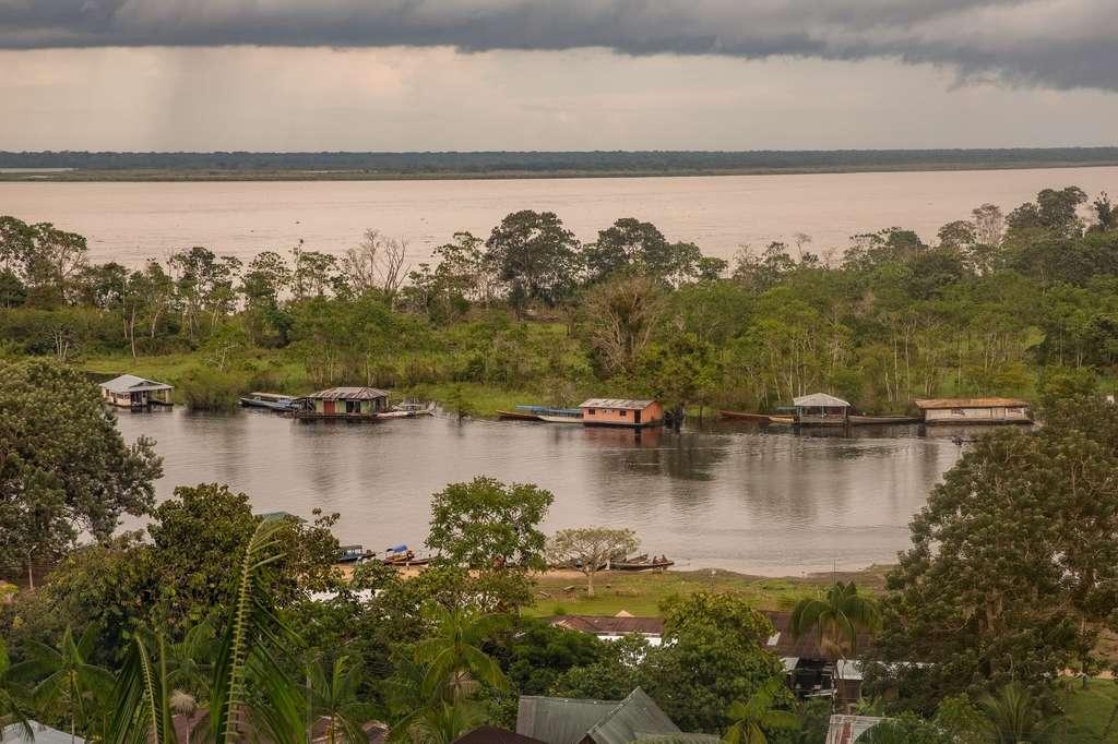 Puerto Nariño, en Colombie, se trouve sur le fleuve Amazone. © Alfredo, Fotolia