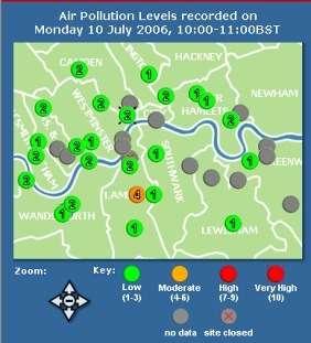 Les londoniens ont également accès aux bulletins en temps réel, en cliquant sur le centre le plus proche de chez eux (Crédits : King's College London )