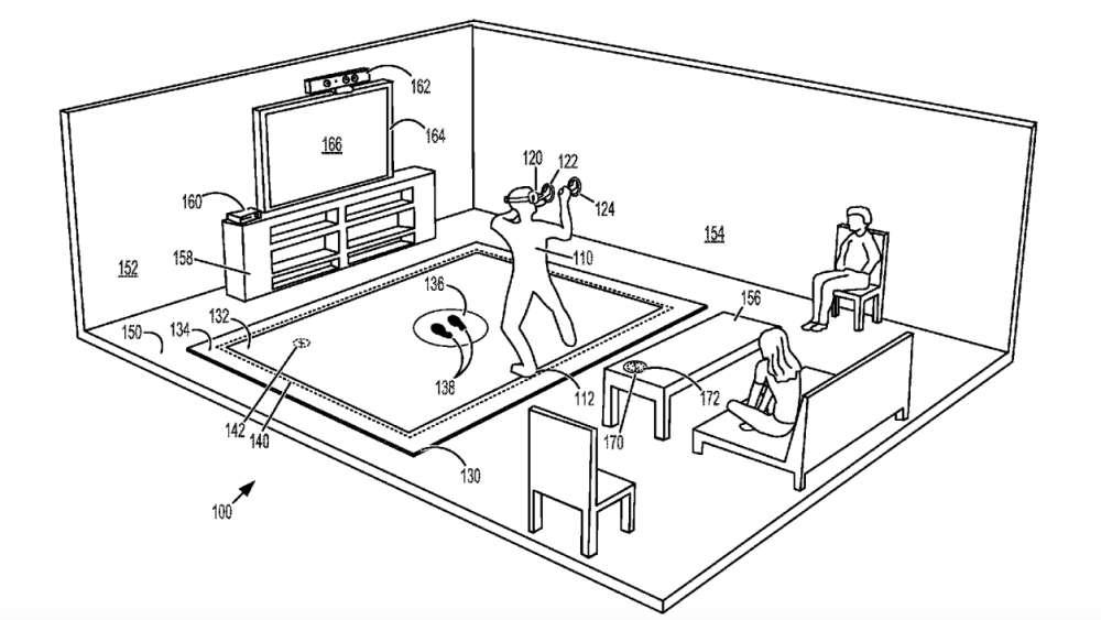 Pour éviter tout accident, ce tapis préviendrait le joueur qu'il sort de l'aire de jeu. © Microsoft