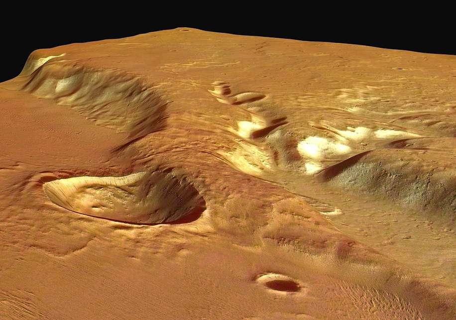 Medusa Fossae vue par Mars Express