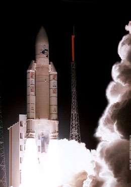 Fusée Ariane 5 au décollage © Crédit Arianespace