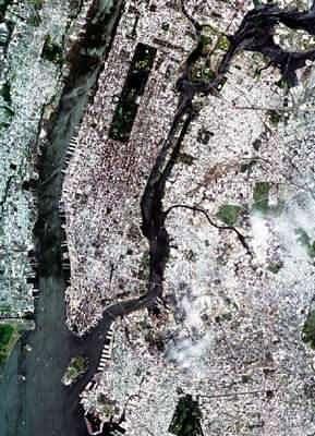 New York vu par la sonde PROBA (crédit : ESA)