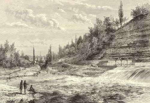 Les lacs souterrains sont liés aux rivières ou fleuves, comme c'est le cas pour le Rhône. © DR