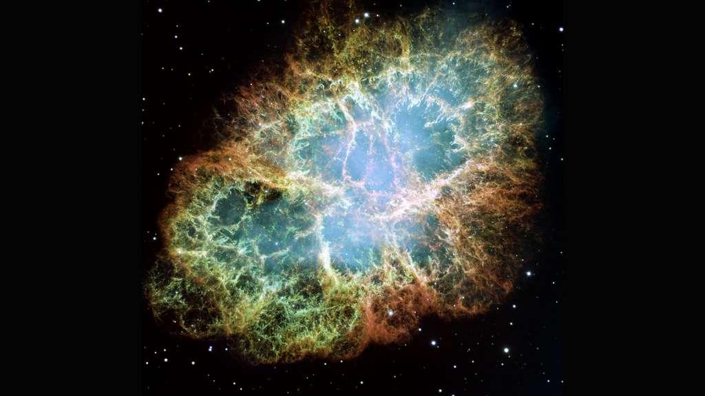 La nébuleuse du Crabe ou les restes d'une supernova, scrutés par Hubble