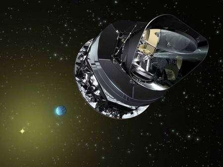 Le satellite Planck (vue d'artiste). Crédit Cnes